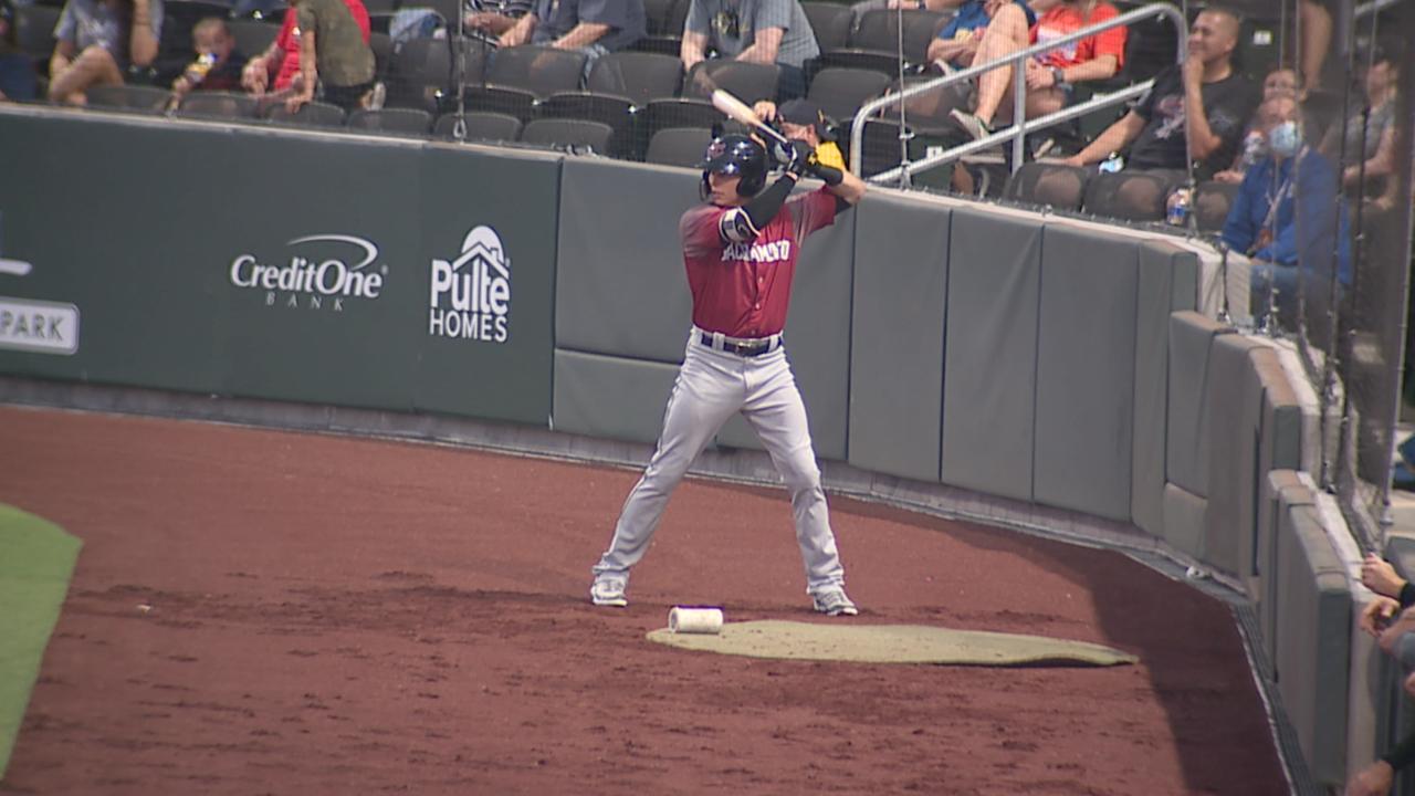Drew Robinson kicks off baseball comeback in hometown against Las Vegas Aviators