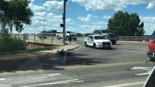 A motorcyclist was injured in a crash in Great Falls on Saturday, June 26th.