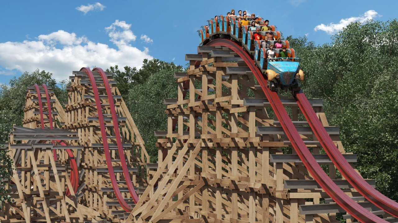 Kings Dominion reveals new, massive roller coaster Twisted Timbers