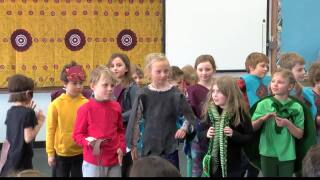 Arts & Education: Young Missoula students taking part in play