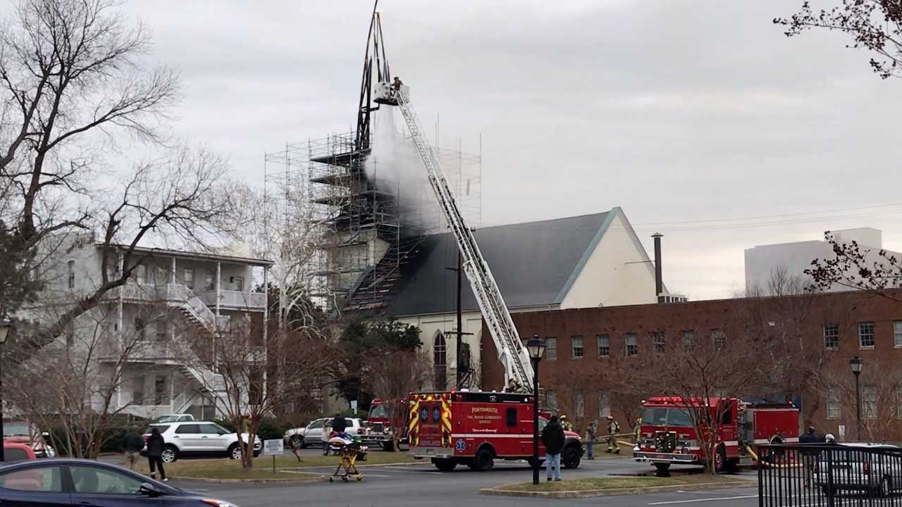 Historic church in Portsmouth counting its blessings after huge fire 1 yearago
