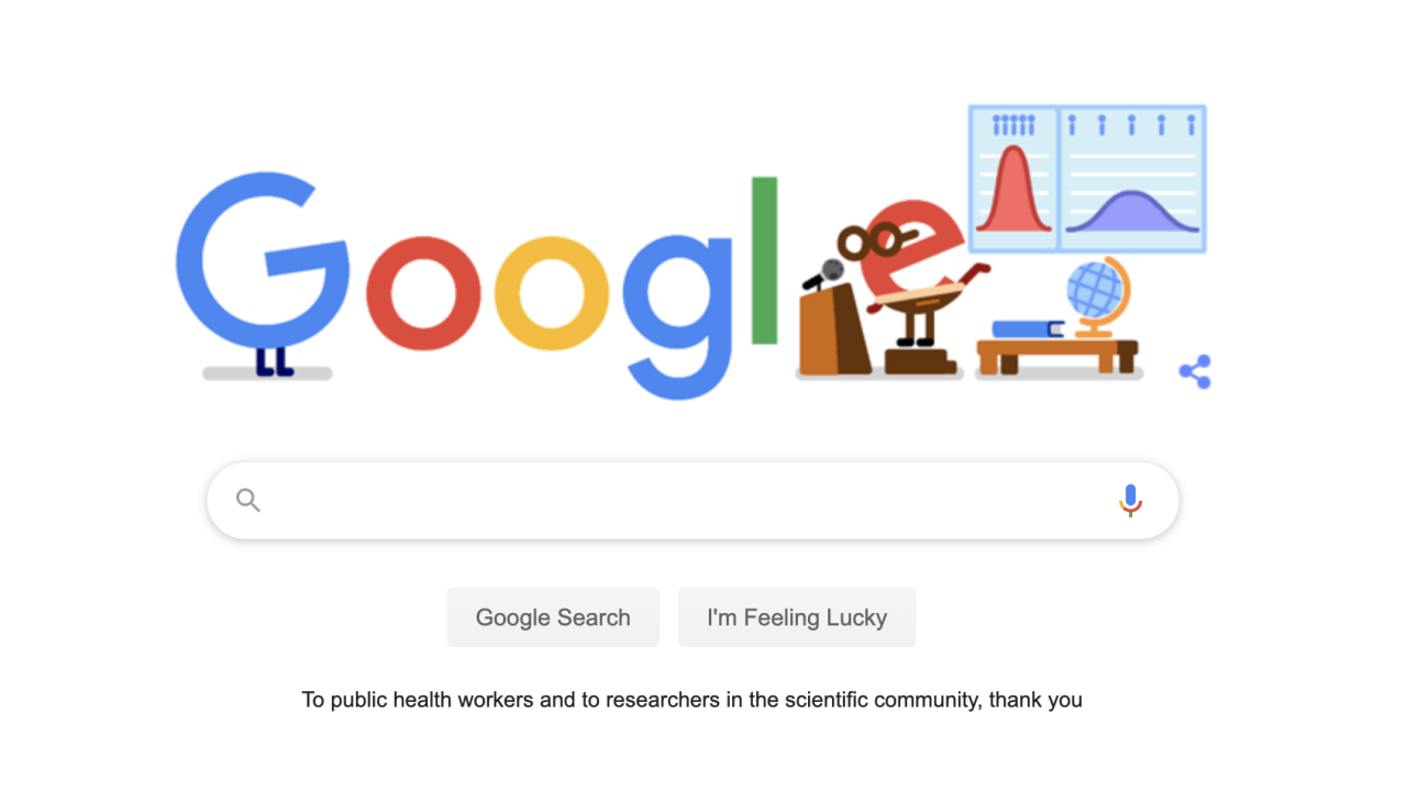 Google doodle thanks healthcare workers, researchers in COVID-19 crisis