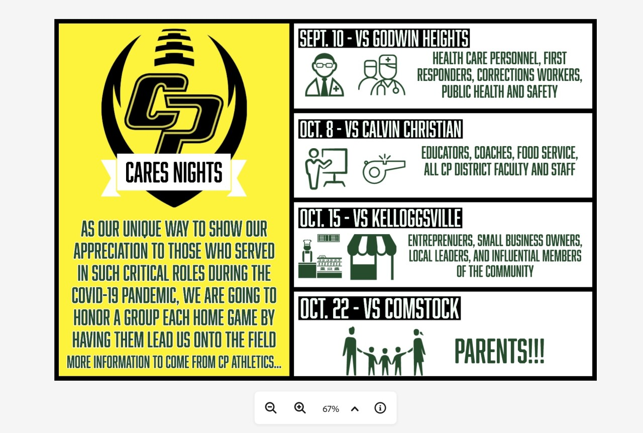 'CP Cares Nights' hosted by Comstock Park football