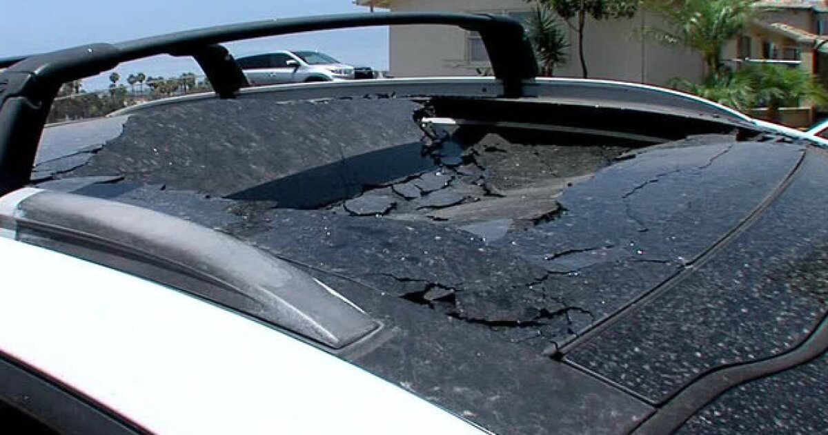 San Diegan says SUV sunroof spontaneously exploded