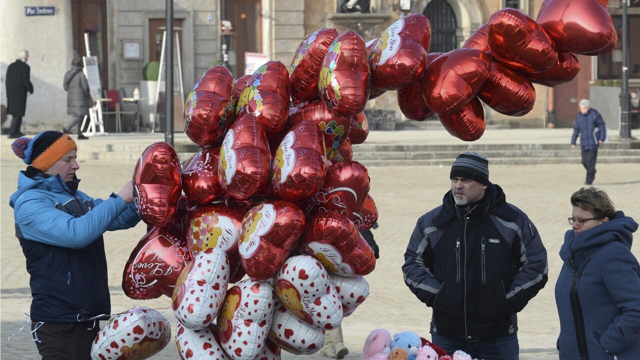 Metallic Heart Balloons