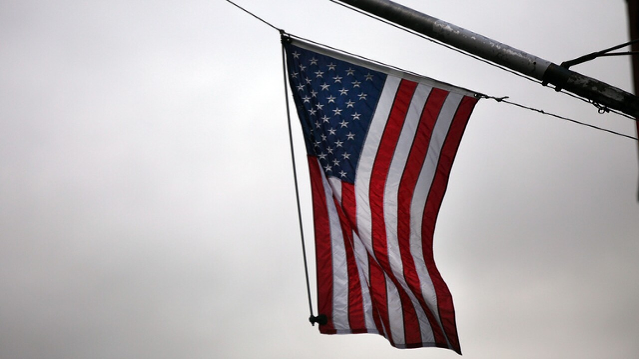 Hampshire College returns to flying American flag