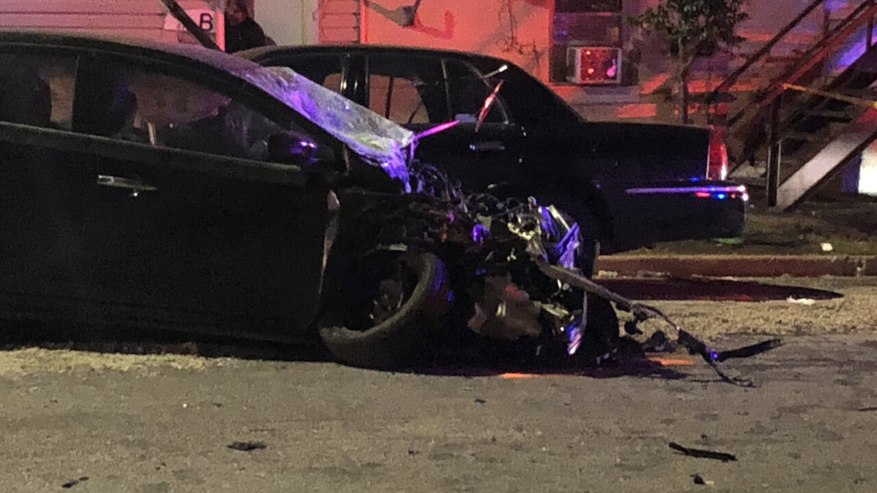 Bad crash in Curtis Bay injures two, sends baby, mother to hospital