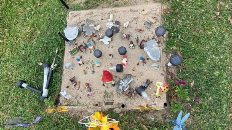 Carter Waller grave vandalized.jpg