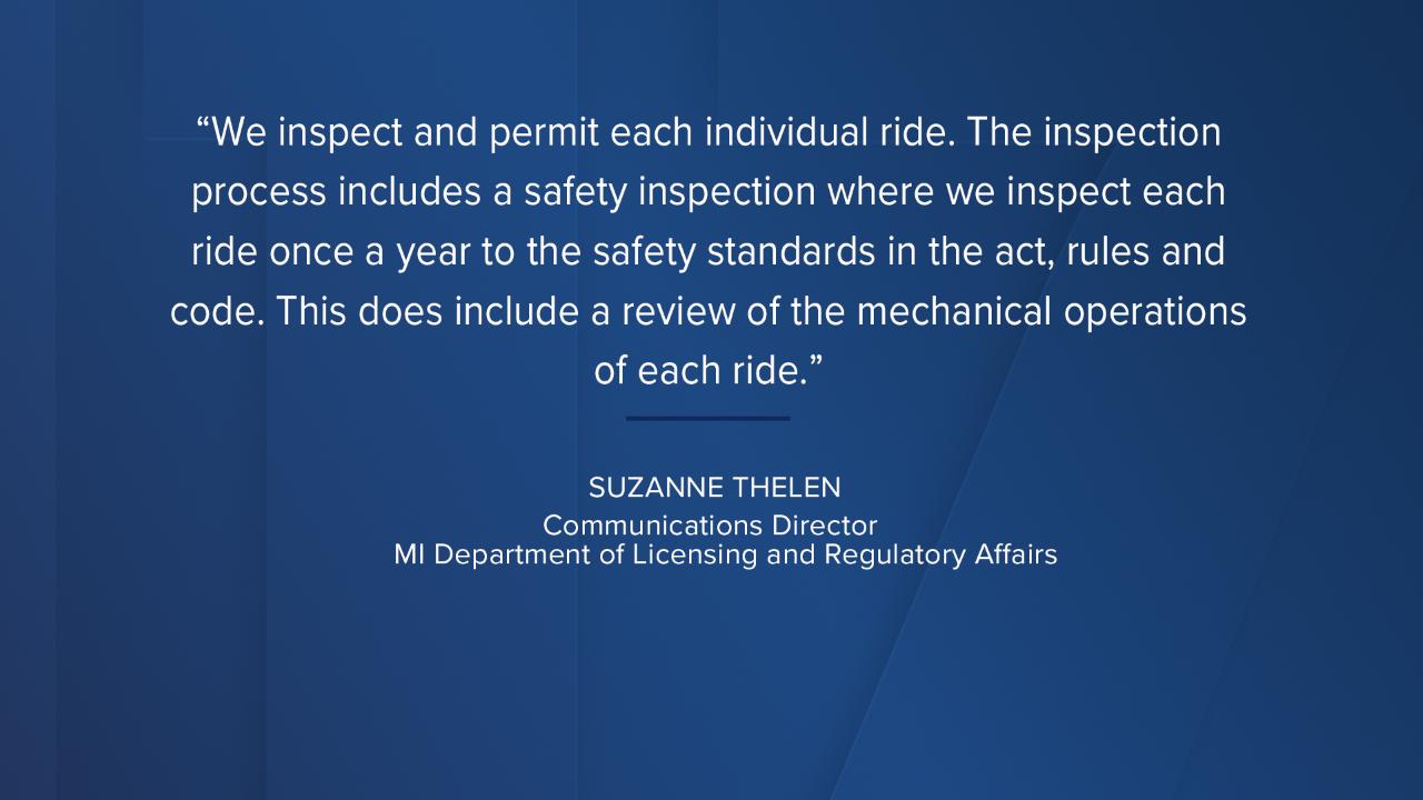 Statement from Suzanne Thelen, LARA