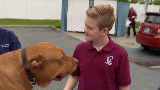 Austin Testa with dog