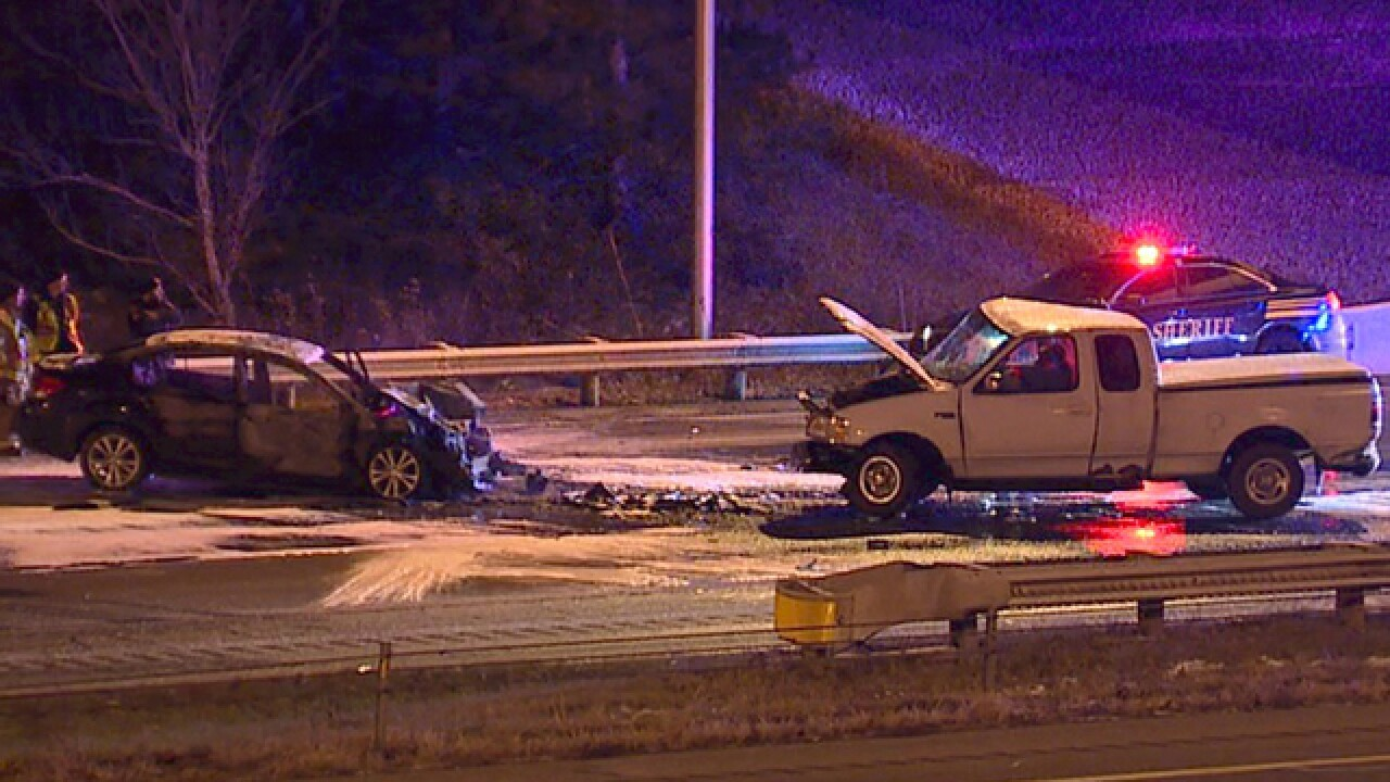 Woman cited for OVI in I-77 wrong-way crash