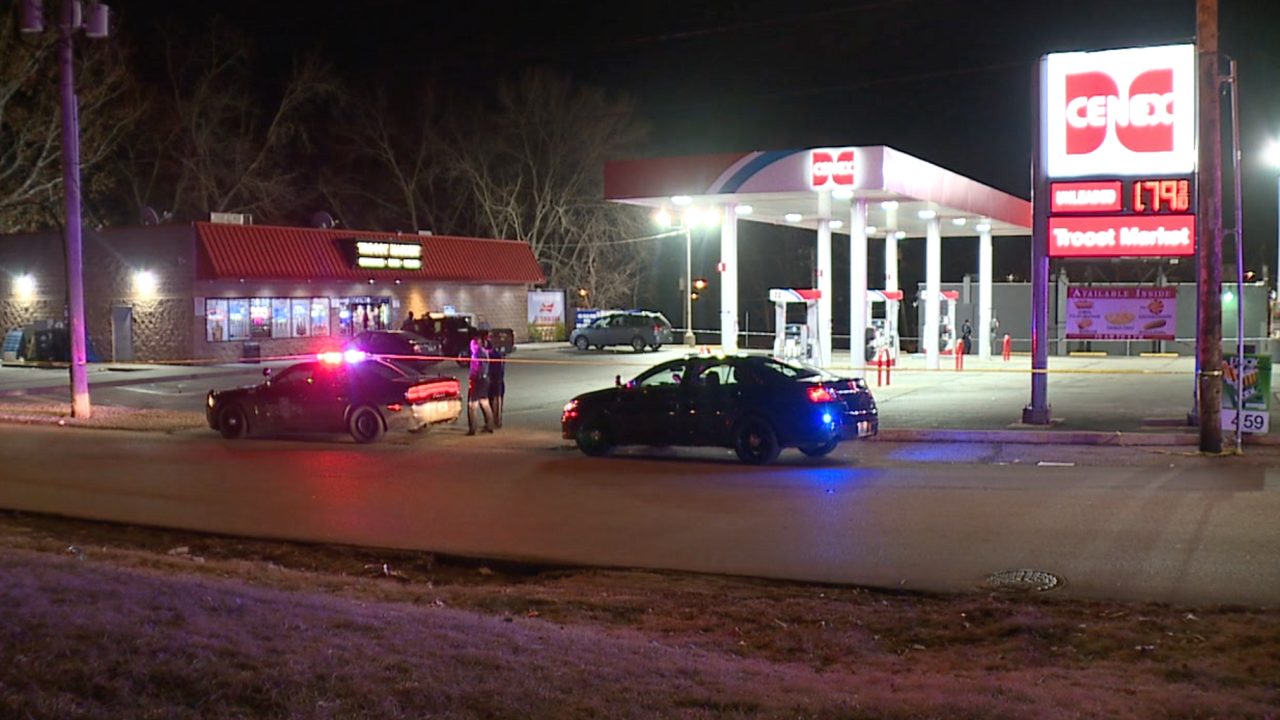 Man killed outside gas station
