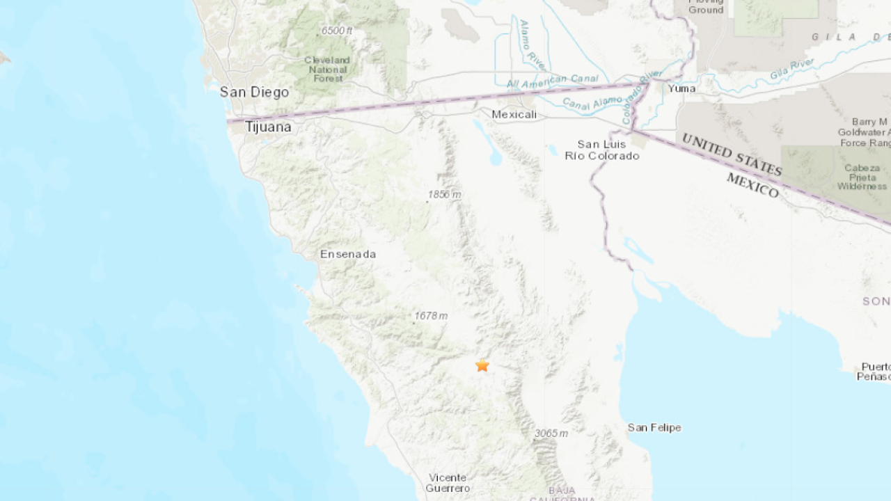 4.5-magnitude earthquake rocks Baja California
