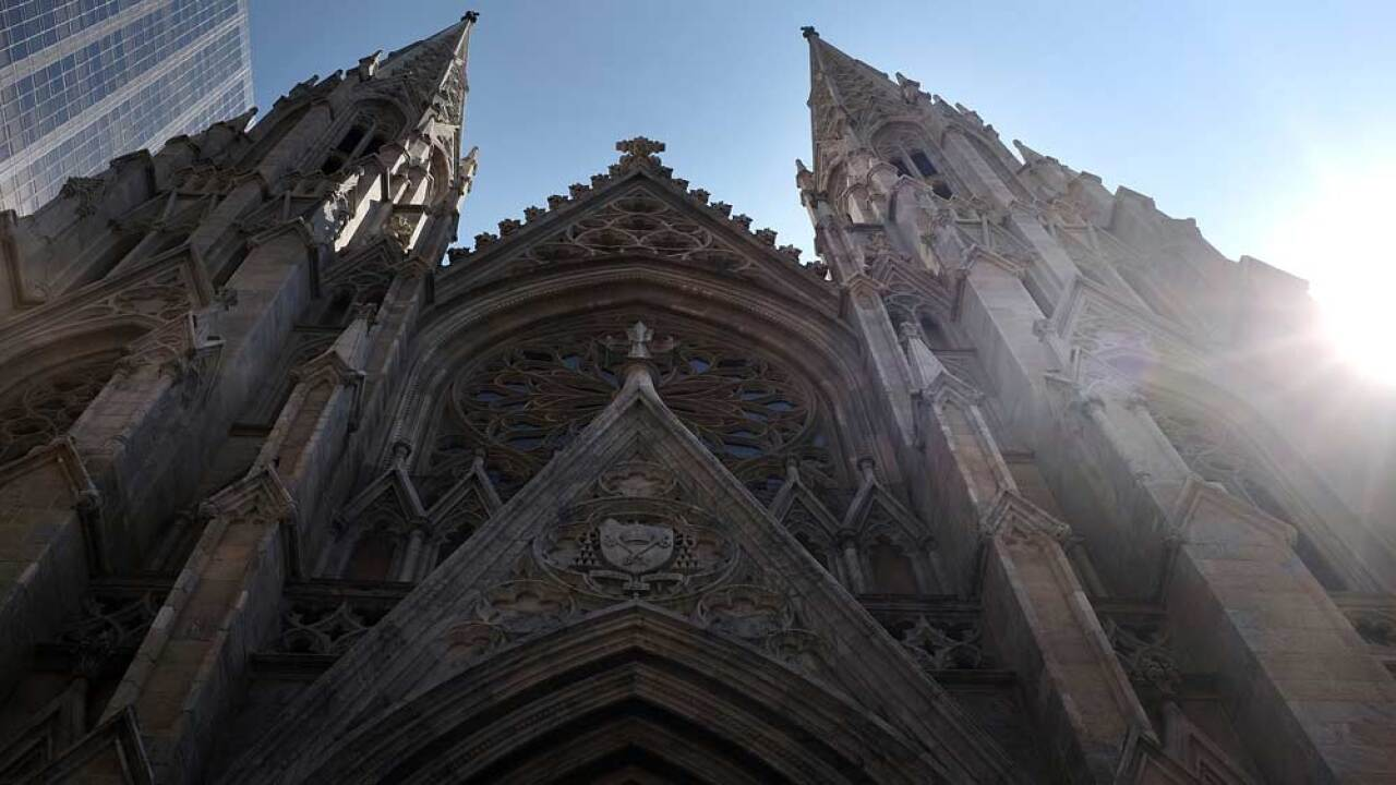St. Patrick's Cathedral, the seat of the Roman Catholic Archdiocese of New York, is viewed on September 8, 2015 in New York City.