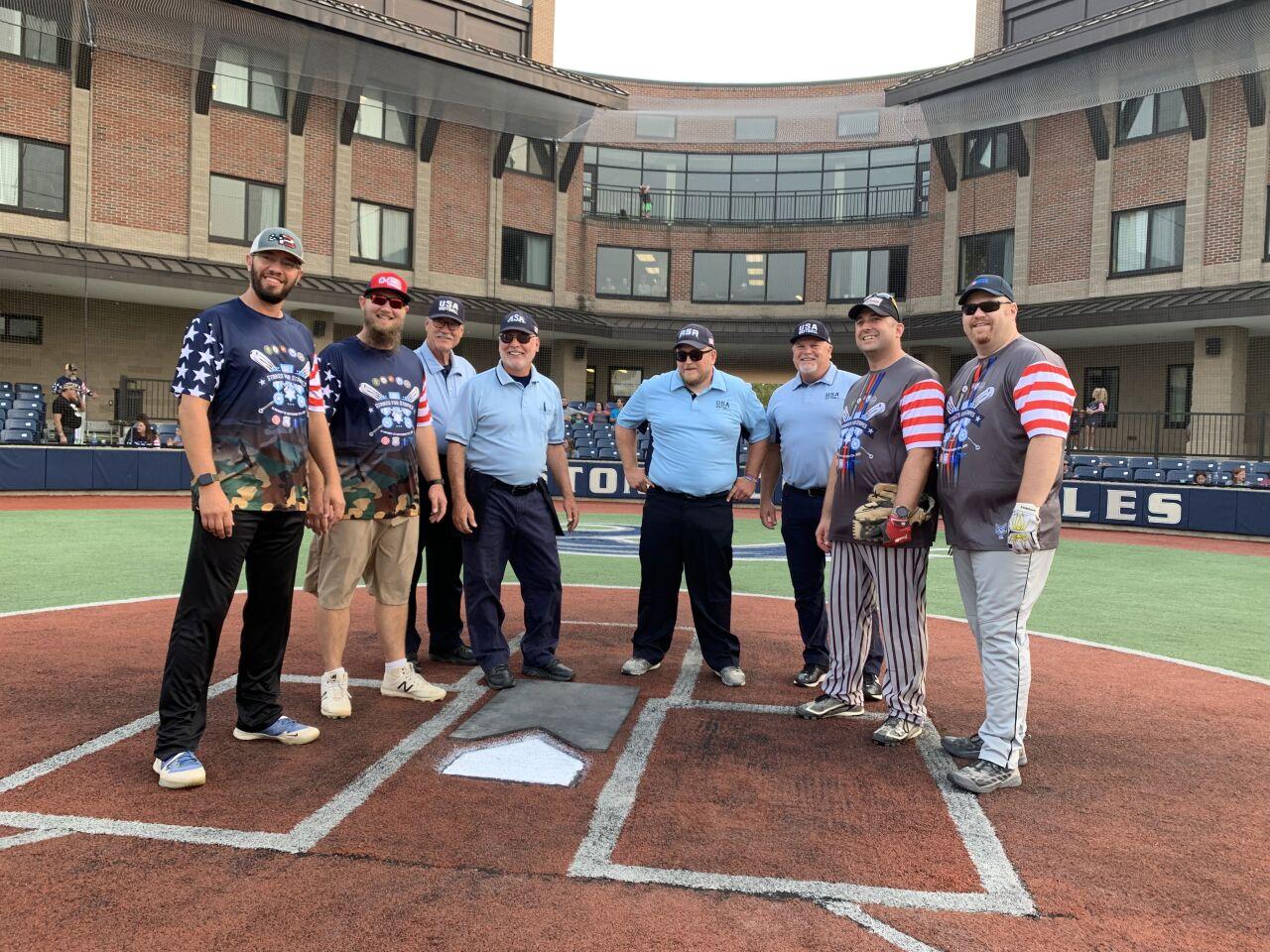 First responders vs. veterans softball game remembers 9/11