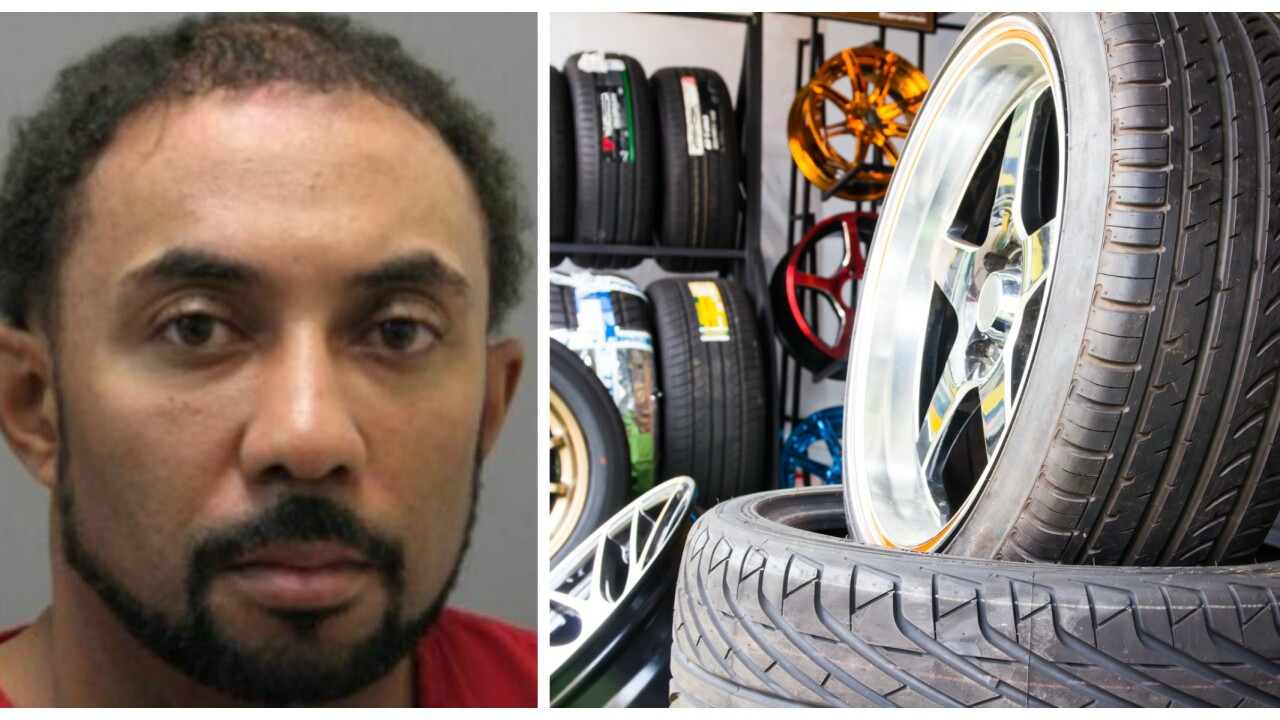 Virginia man facing 132 years in prison for stealing tires and rims