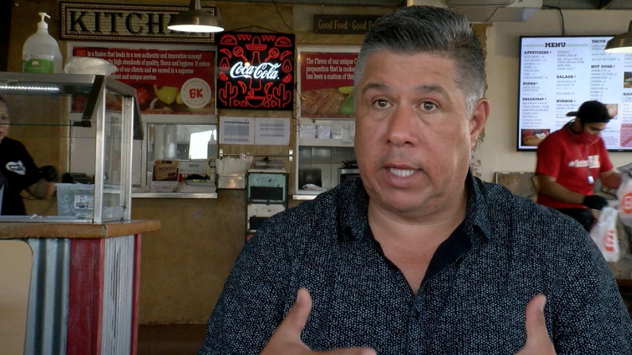 BK Tacos Owner Benjamin Galaz