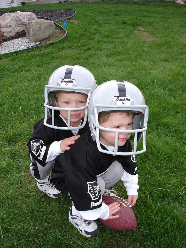 Twins Connor and Kolby Hindenach growing up