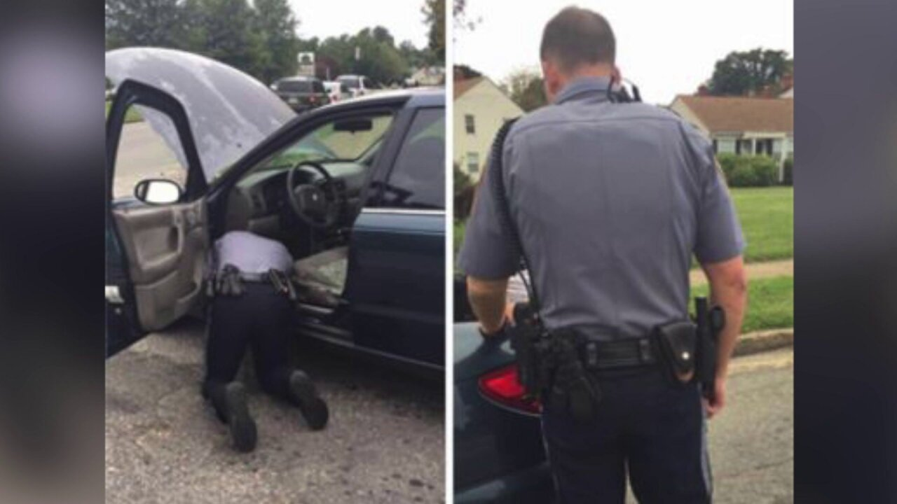 Henrico officer goes 'above and beyond,' shifts into mechanic mode: 'He's a blessing'