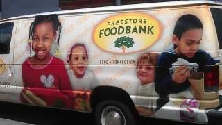 A Freestore Foodbank van.