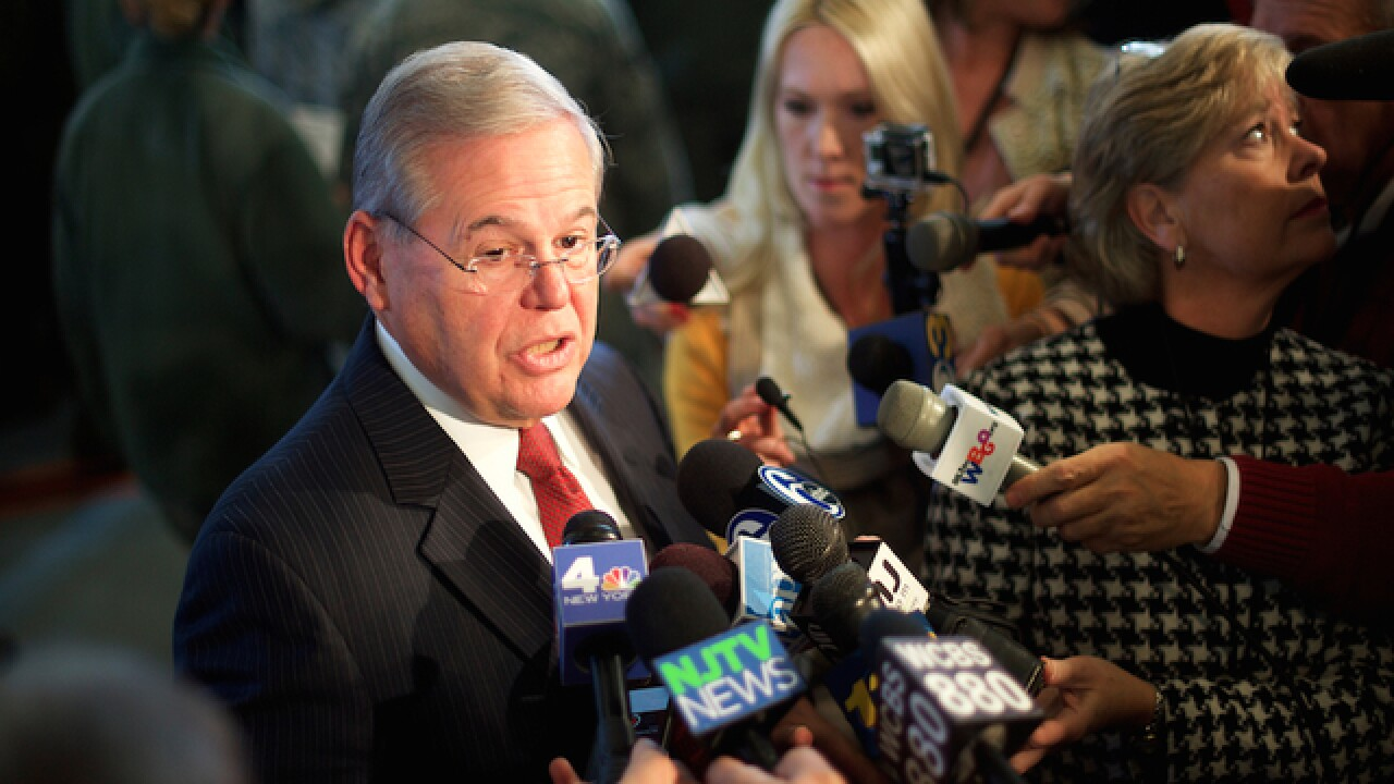 Justice Department details case against New Jersey senator