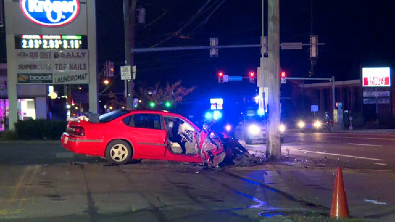 Driver not seriously hurt after car hits pole in Madison