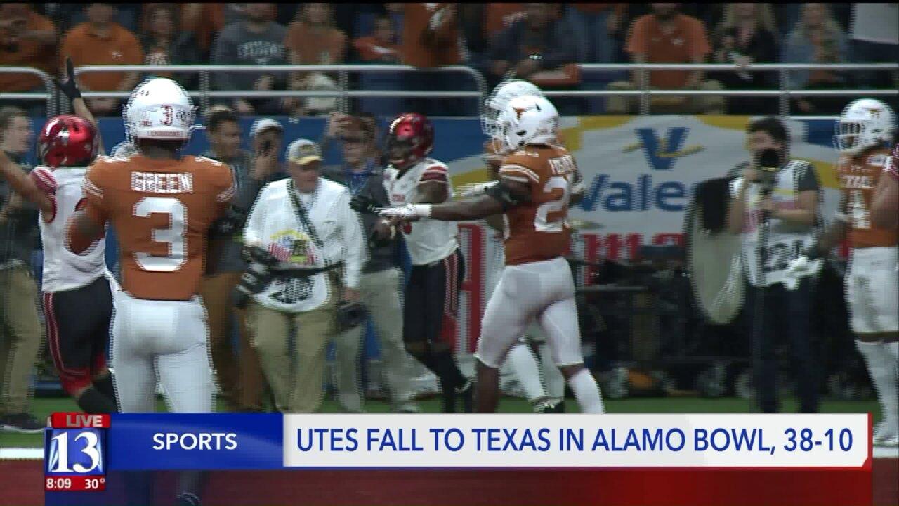 Utah Utes fall to Texas in Alamo Bowl,38-10