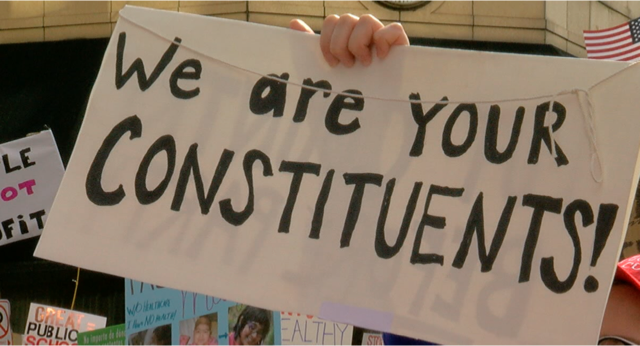 Protesters speak out against McConnell in NKY