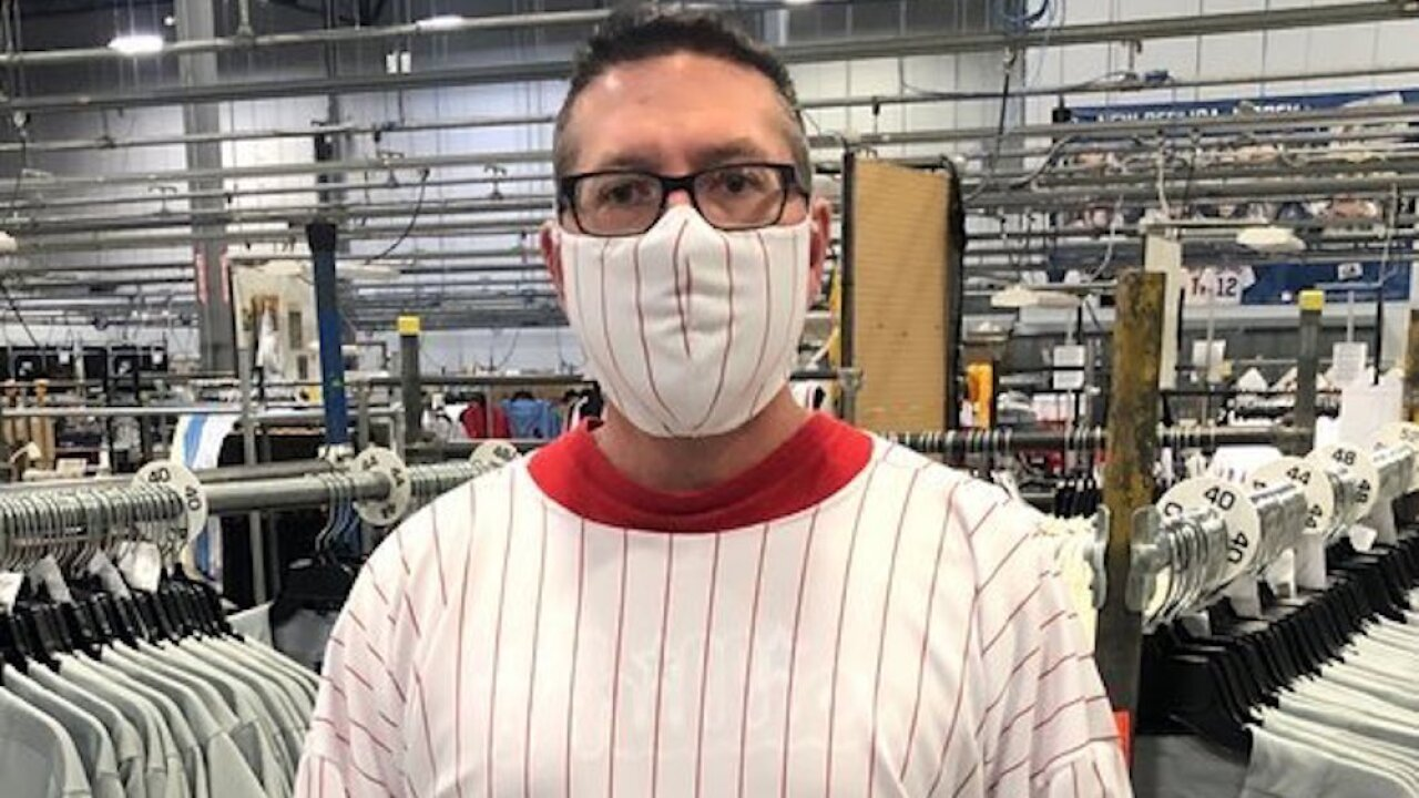 Manufacturing plant that makes MLB uniforms to begin making hospital masks, gowns