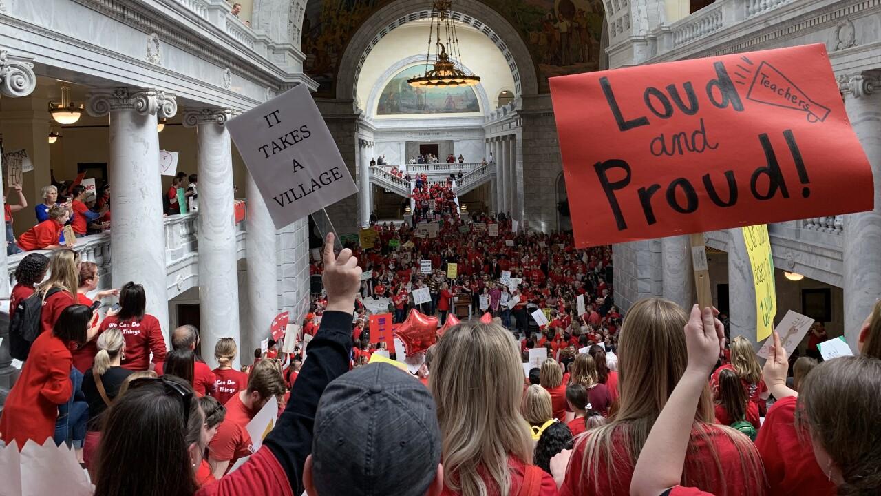 SLC teacher's union rally