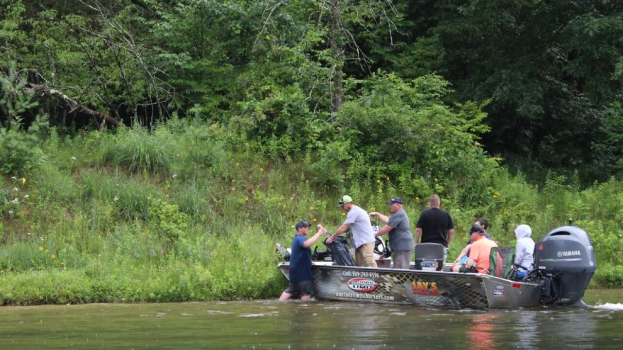 Forest Service partners conduct large-scale Manistee River
