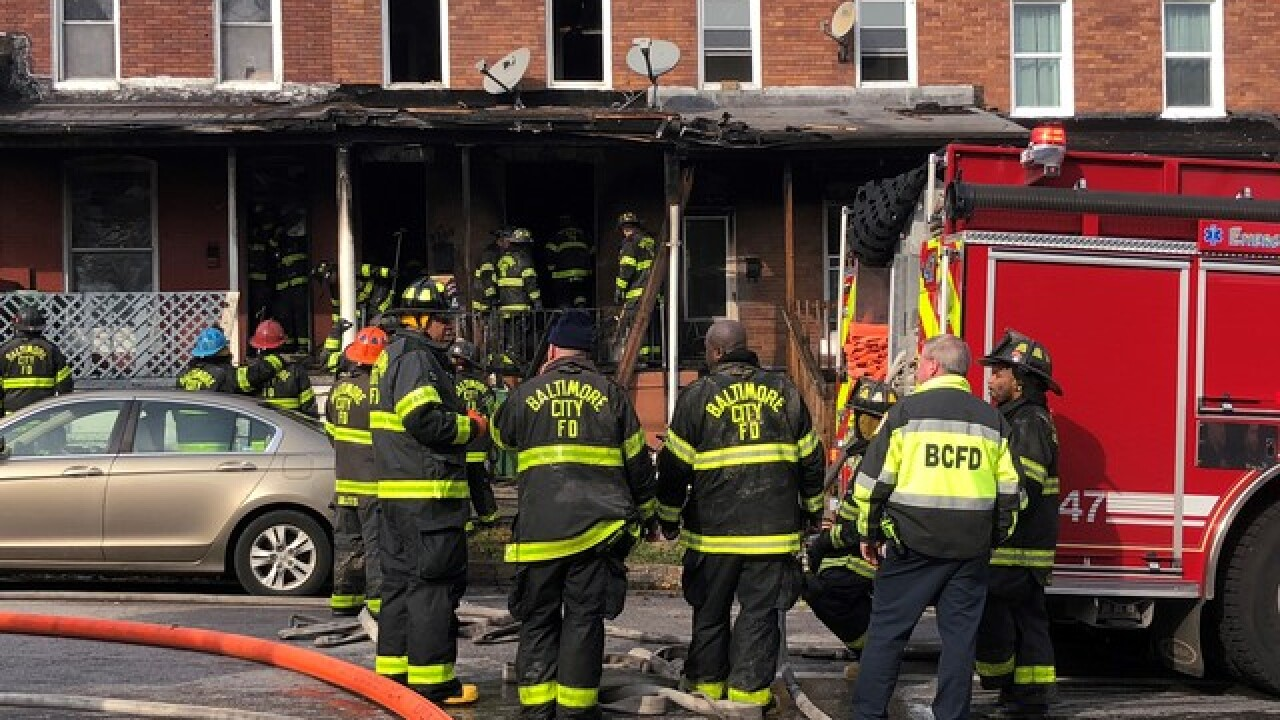 2-alarm fire injured one in Southwest Baltimore
