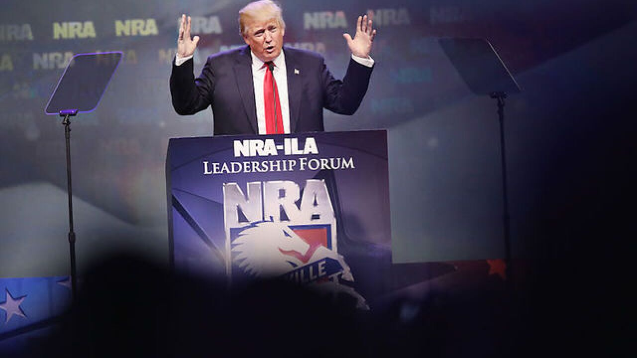 Guns banned from Trump's NRA speech
