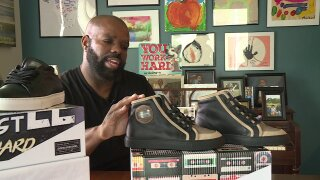 Chesterfield designer puts positive messages in his high-end kicks