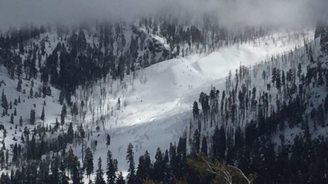 Avalanche risk in some areas of Mount Charleston