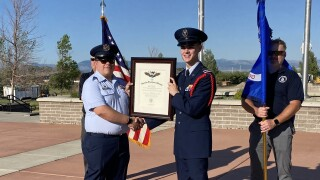 "Roman Jacobson receives Civil Air Patrol ""Amelia Earhart"" award"