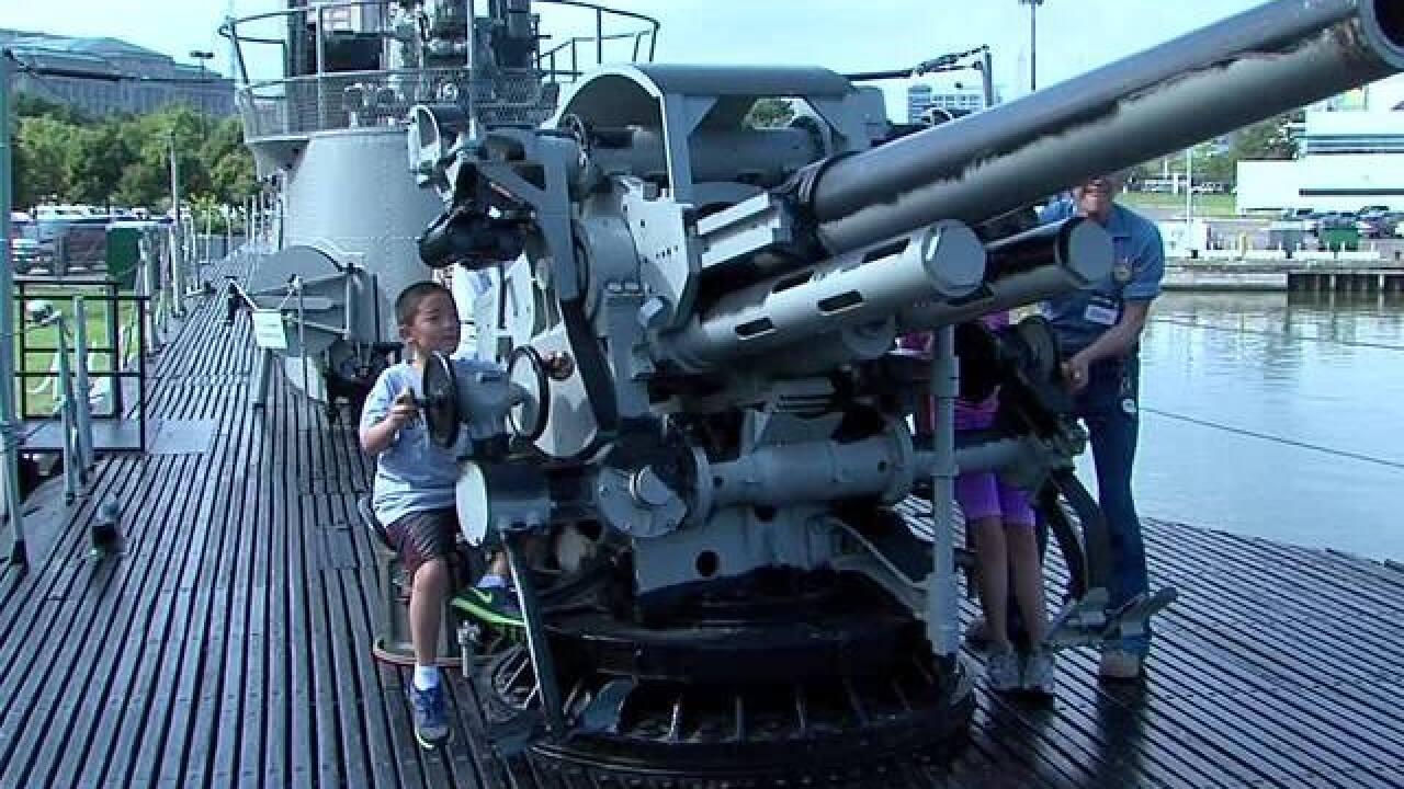 LIVE | Pearl Harbor U.S.S. Cod deck gun salute