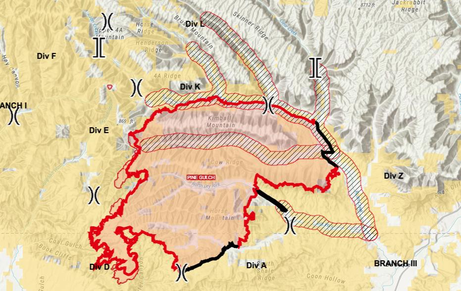 Pine Gulch Fire_map_Aug 18 2020 8:45 a.m.