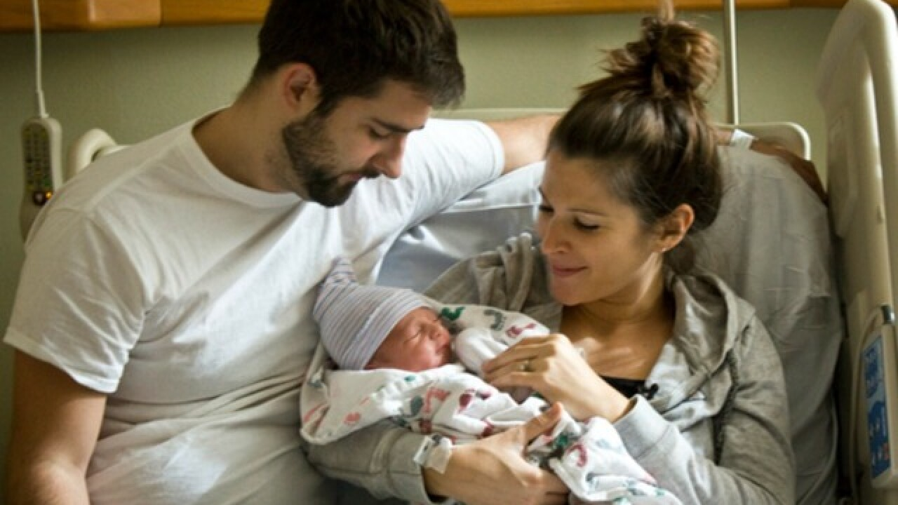 First baby born at Sharp Mary Birch in 2016