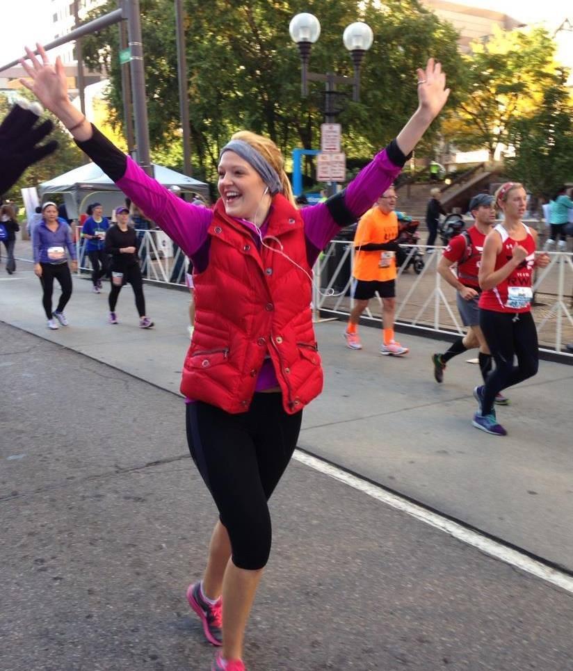 Tessa DiTirro runs a half marathon