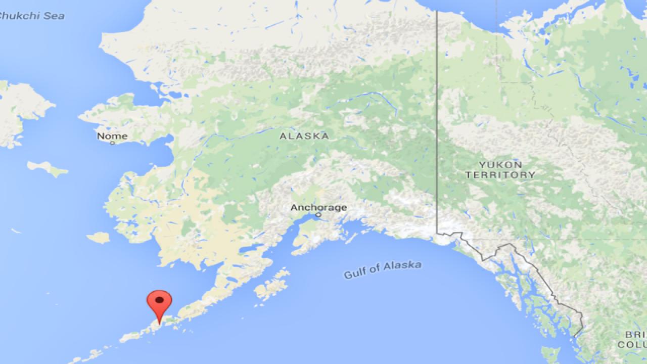 Alaska Map Volcano.Alaskan Volcano Erupts
