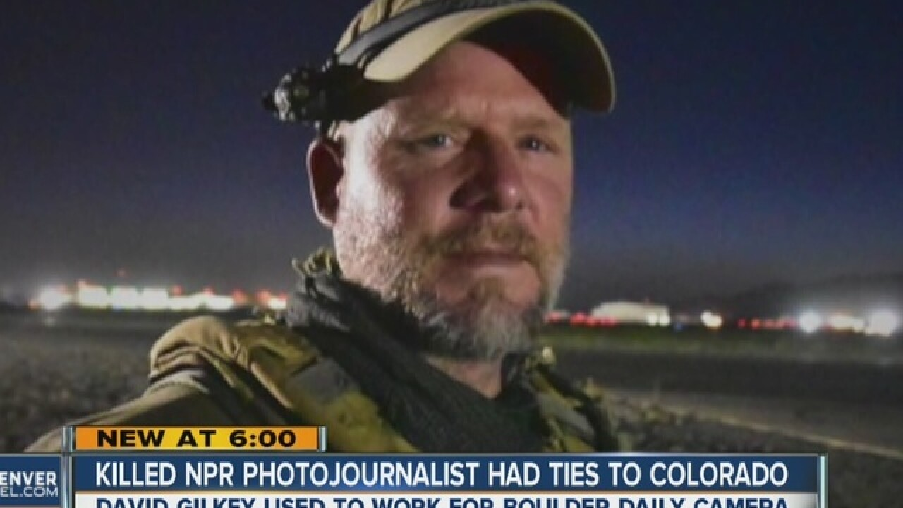 Former Colo. journalist killed on assignment