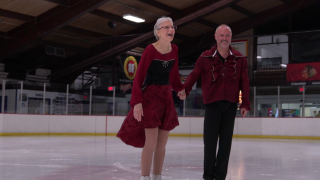 74-year-old competitive figure skater takes to the ice