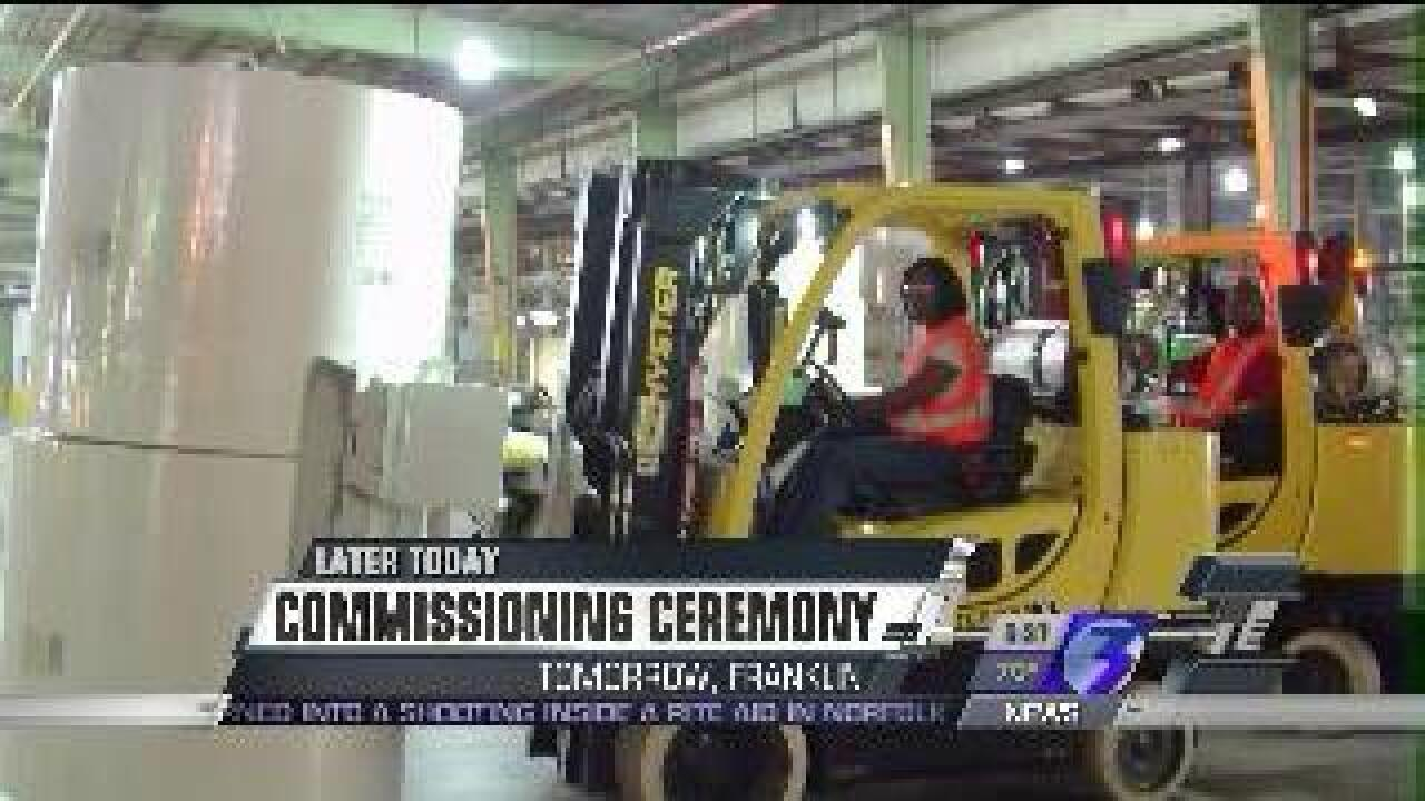 Commissioning ceremony to be held for International Paper's new pulp mill