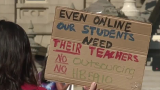 Michigan teachers rally in Lansing for remote learning among uptick in COVID-19 cases