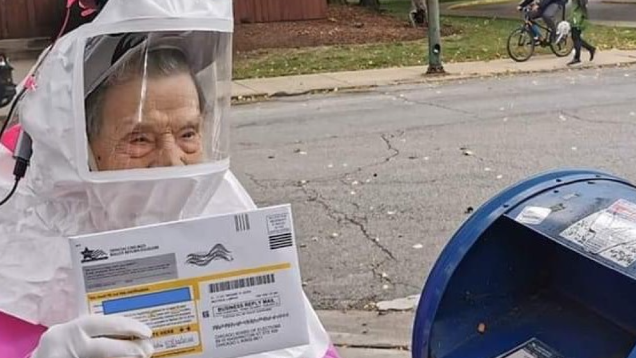 The COVID-19 pandemic couldn't stop a 102-year-old woman from voting in the 2020 election
