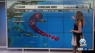 Hurricane Jerry forms in Atlantic Ocean