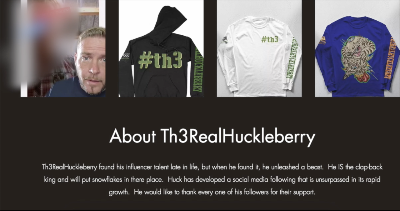 Th3RealHuckleberry website