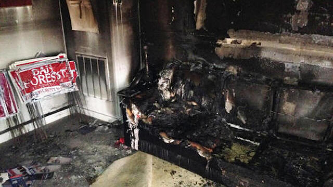 North Carolina Republican Party office burned; no injuries