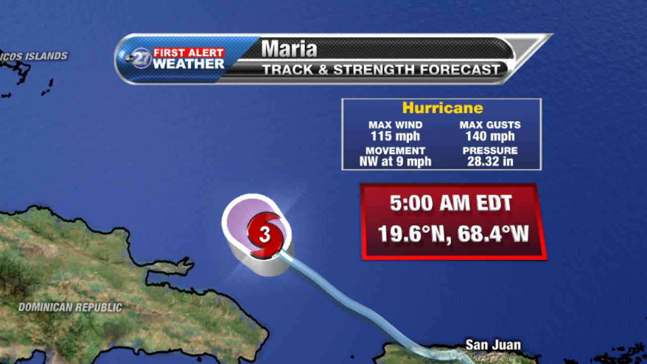 Hurricane Maria Advisory (5am 09/21/2017)